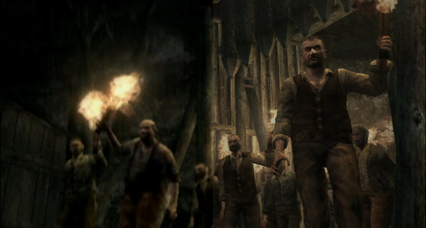 Resident Evil 4 HD comparison shots