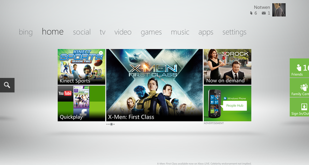 Xbox Live dashboard update October 2011