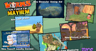Worms Ultimate Mayhem launch screens
