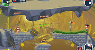 Worms Crazy Golf Pirate Cavern course screenshots