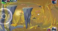 Worms Crazy Golf Pirate Cavern course screenshots