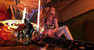 Lollipop Chainsaw trailer: thrills, chills, and rainbow arterial spills