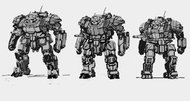 MechWarrior Online concept art reveals evolution of 'Atlas'