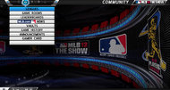 MLB 12: The Show menu screens