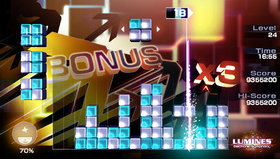Lumines: Electronic Symphony Screenshot from Shacknews