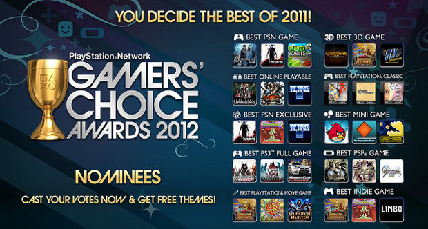PSN Gamers Choice 2012 topstory