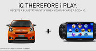 Get a free PS Vita... by buying a Scion iQ