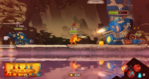 Awesomenauts launch screenshots