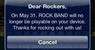 Report: Rock Band iOS ending May 31