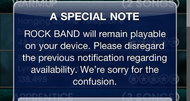 Rock Band iOS to remain live, EA faults 'error'