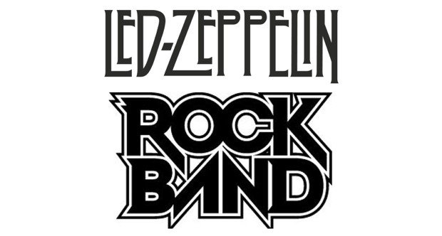 Led Zeppelin Rock Band fake logo