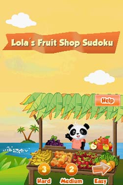 Lola's Fruit Shop Sudoku Screenshots