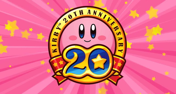Kirby 20th anniversary logo