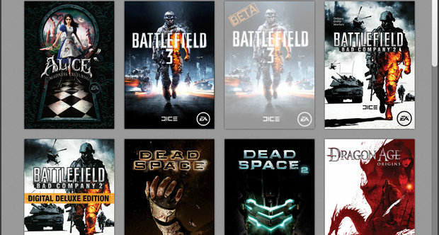 Origin client version 9.0 screens