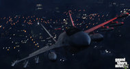 Grand Theft Auto V screens: fighter jet; bicycle; automobile