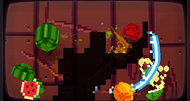 Fruit Ninja Kinect 8-Bit Cartridge DLC screenshots