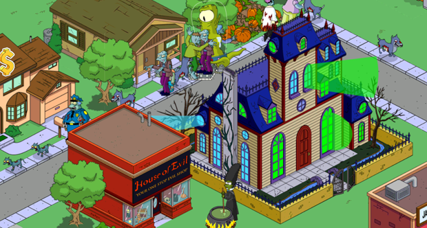 Simpsons: Tapped Out iOS Halloween update