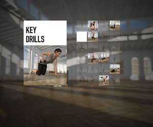 Nike+ Kinect Training Screenshots