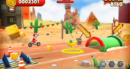 Joe Danger Touch launch screenshots