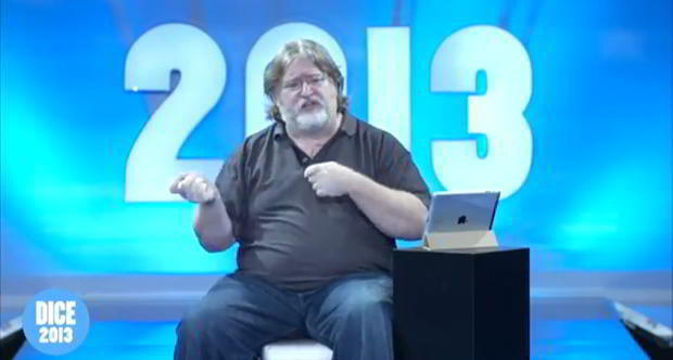 Gabe Newell keynote at DICE 2013