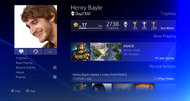 Sony PlayStation 4 user interface screenshots