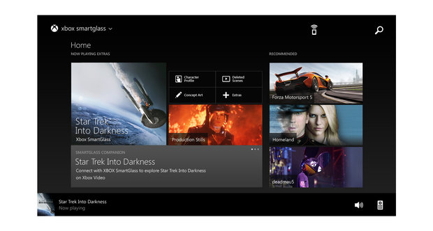 Xbox One Smartglass UI