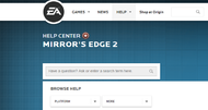 Mirror's Edge 2 help page appears on EA site, promptly vanishes