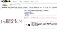 Dragon Age 3: Inquisition listed for Xbox One on Amazon Italy