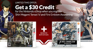 Get $30 in eShop credit for registering Shin Megami Tensei and Fire Emblem