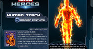 The Human Torch blazing onto Marvel Heroes