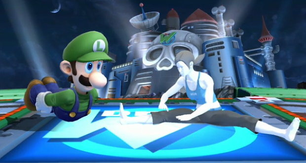 Luigi in Super Smash Bros