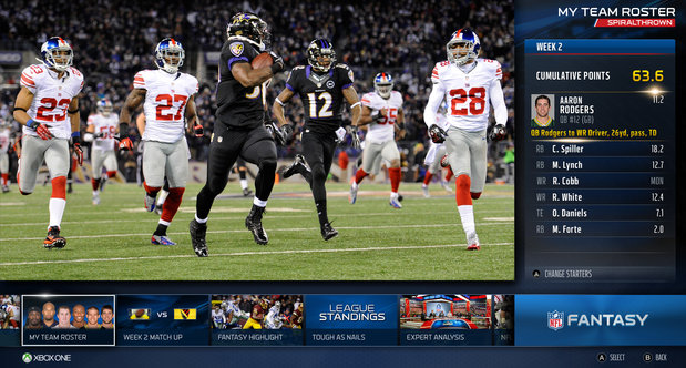 NFL on Xbox One topstory screenshots