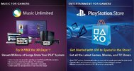 PlayStation 4 includes $10 PSN credit; Plus and Music Unlimited trials