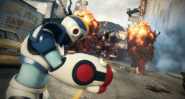 Mega Man in Dead Rising 3