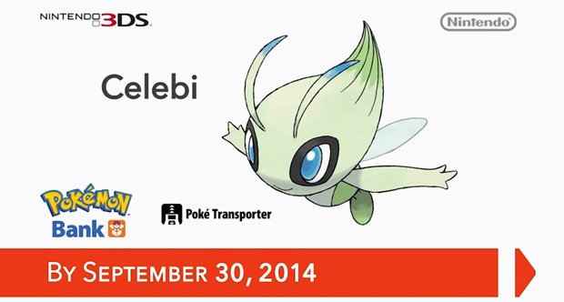 Pokemon Bank Celebi offer