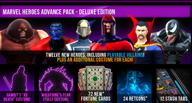 Marvel Heroes advance pack