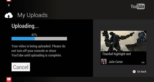 Upload to YouTube on Xbox One