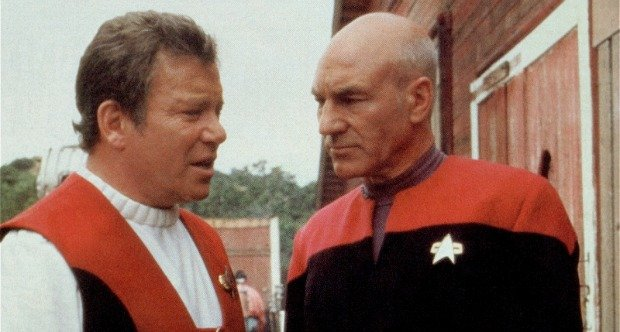 Kirk and Picard Star Trek