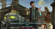 Tales from the Borderlands screens show dialogue and cameos