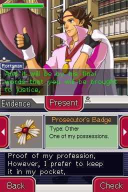 Ace Attorney Investigations: Miles Edgeworth Chat
