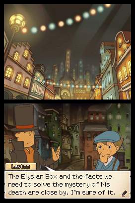 Professor Layton and the Diabolical Box Chat