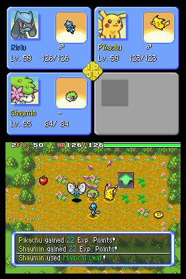 Pokemon Mystery Dungeon: Explorers of Sky Chat