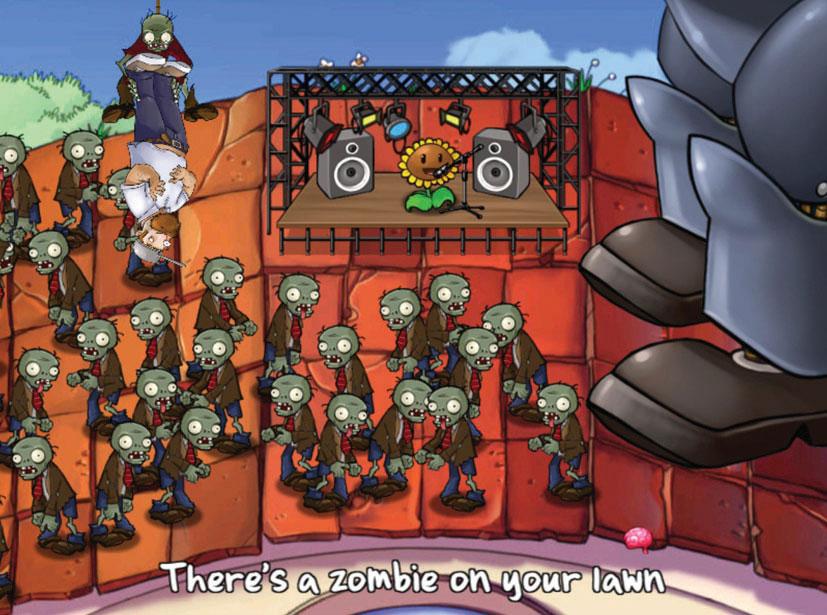 игры растение против зомби с большим экраном