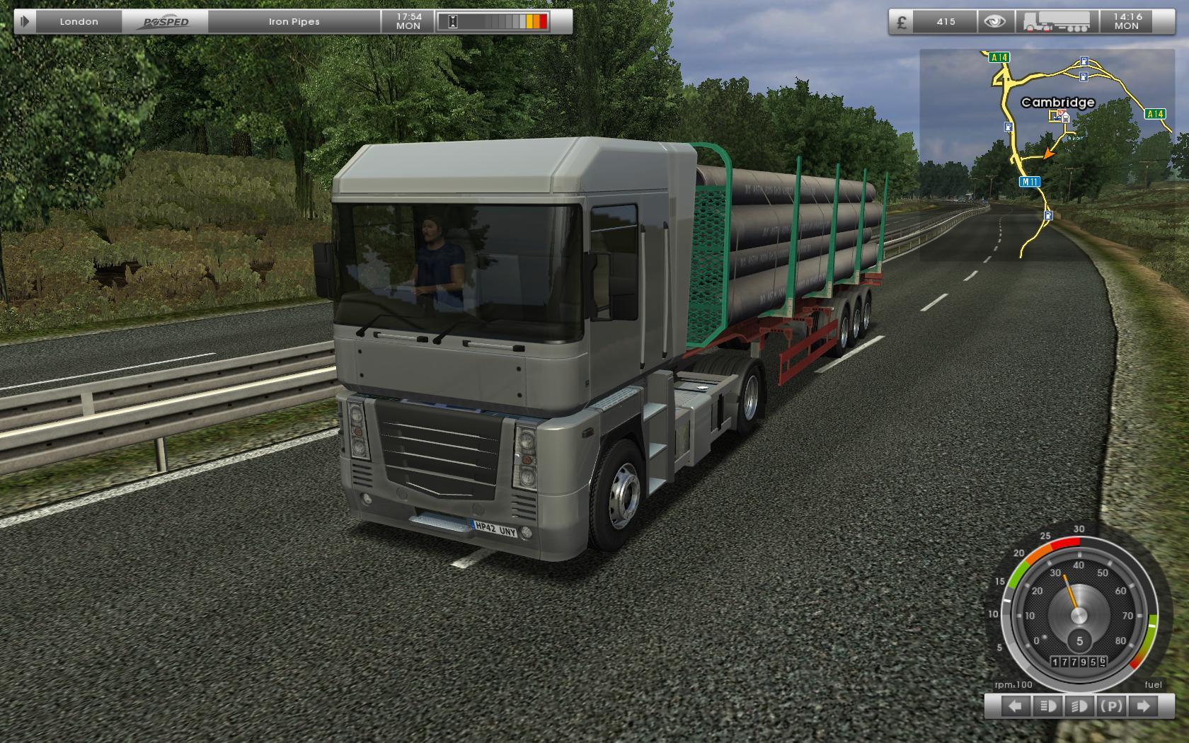 uk truck simulator screenshots video game news videos. Black Bedroom Furniture Sets. Home Design Ideas