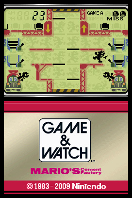 Game & Watch: Mario's Cement Factory Screenshots