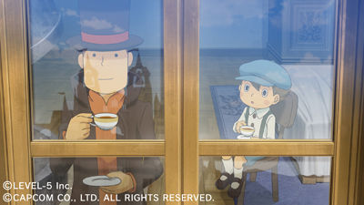Professor Layton vs Ace Attorney Screenshots