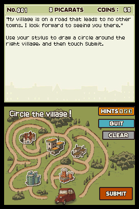 Professor Layton and the Curious Village Screenshots