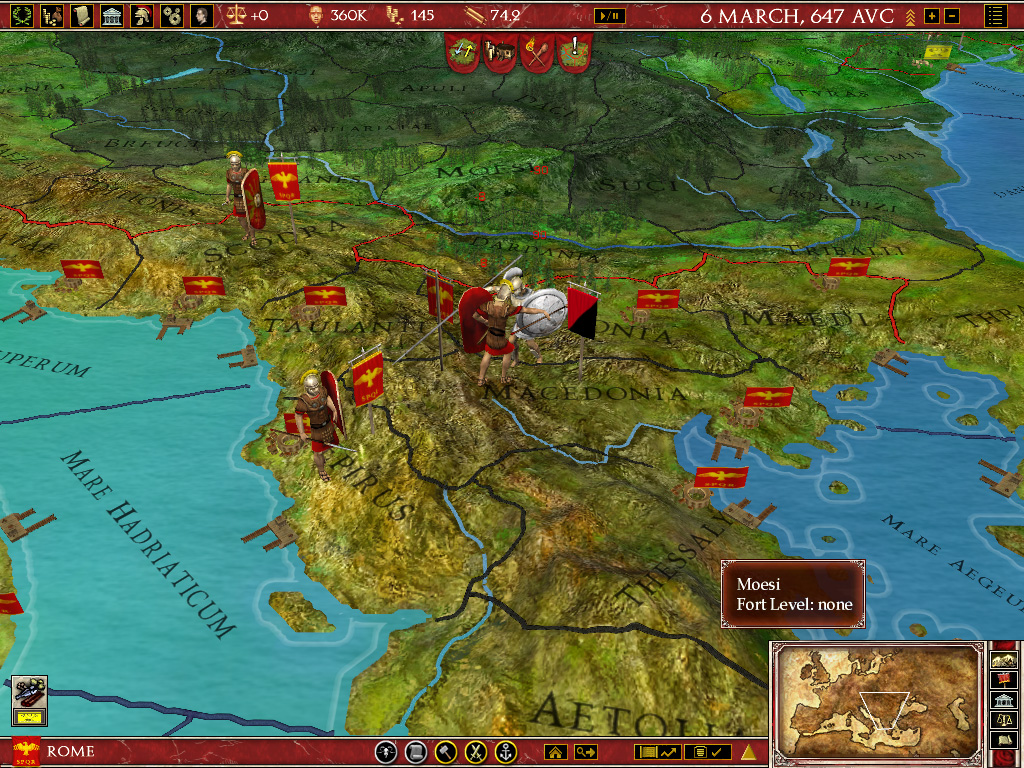 Europa Universalis: Rome Gold game