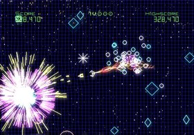 Geometry Wars: Galaxies Screenshot from Shacknews