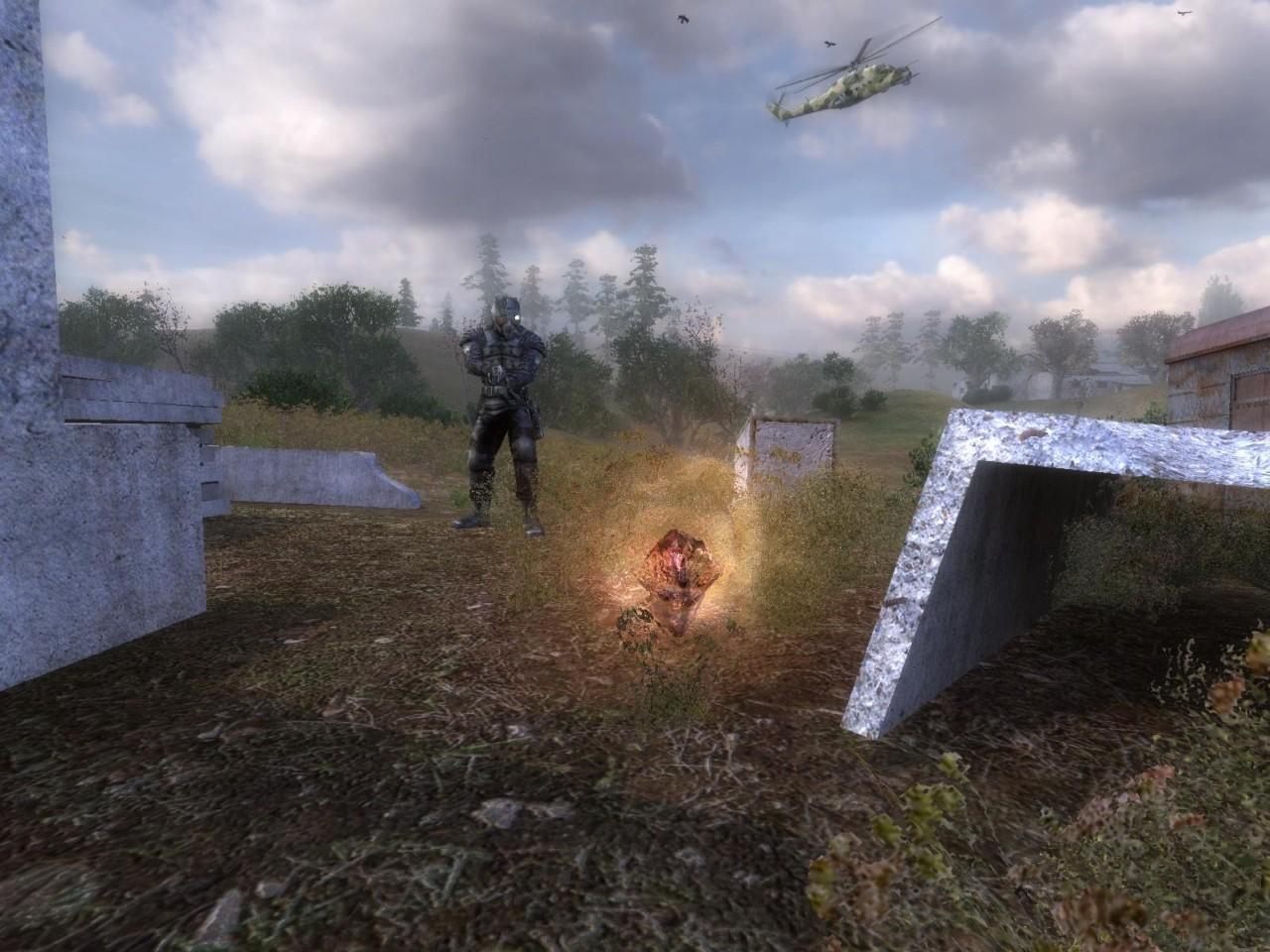 Игрок станет сталкером - охотником за.